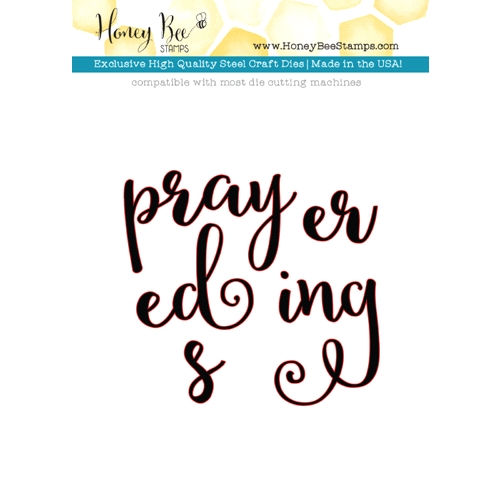 Honey Bee PRAYERS Dies HBDS27 Preview Image