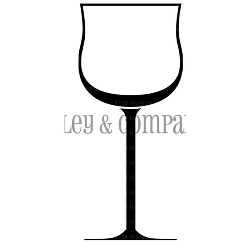 Riley and Company Funny Bones WINE GLASS Cling Rubber Stamp RCM-409 Preview Image