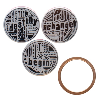 SDS-027 Spellbinders Seth Apter WORD CIRCLES 1 Stamp and Die Set