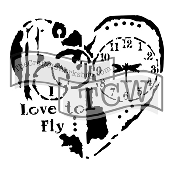 The Crafter's Workshop MINI LOVE TO FLY 6x6 Stencil Template TCW640S