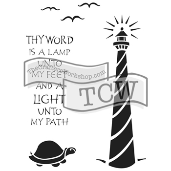 The Crafter's Workshop LIGHTHOUSE 6x9 Inspired Journaling Stencil Zenspirations TCW2154