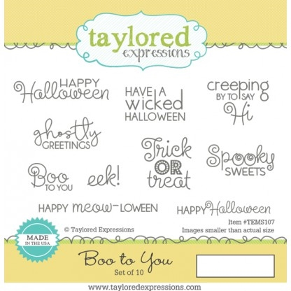 Taylored Expressions BOO TO YOU Cling Stamp Set TEMS107 Preview Image