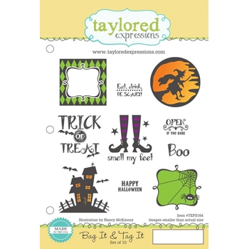 Taylored Expressions BAG IT AND TAG IT Cling Stamp Set TEFS164