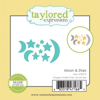 Taylored Expressions Little Bits MOON AND STARS Die TE919