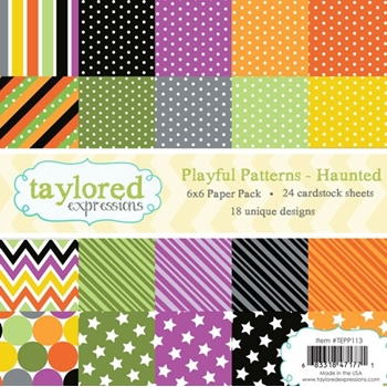 Taylored Expressions PLAYFUL PATTERNS - HAUNTED 6x6 Paper Pack TEPP113