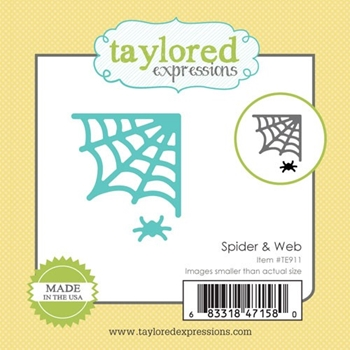 Taylored Expressions Little Bits SPIDER AND WEB Die Set TE911