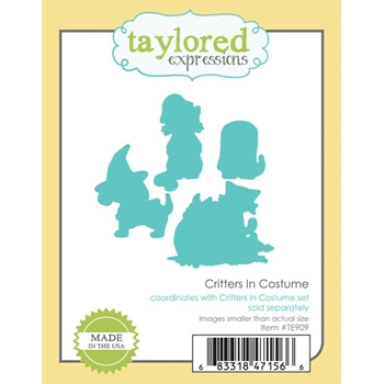 Taylored Expressions CRITTERS IN COSTUME Die Set TE909