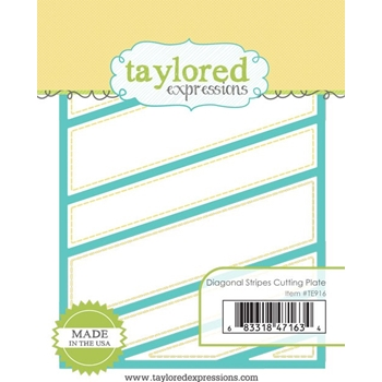 Taylored Expressions DIAGONAL STRIPE CUTTING PLATE Die TE916