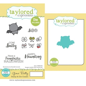 Taylored Expressions GONE BATTY Cling Stamp and Die Set TEPS196