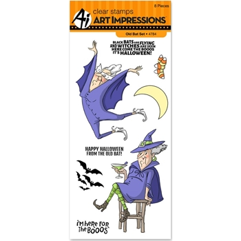 Art Impressions OLD BAT Clear Stamps 4784