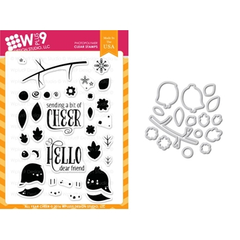 Wplus9 ALL YEAR CHEER Clear Stamp And Die Combo WPLUS330