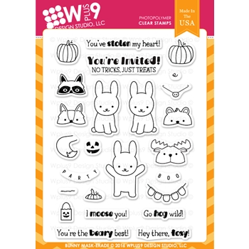 Wplus9 BUNNY MASK-ERADE Clear Stamps CLWP9BMA