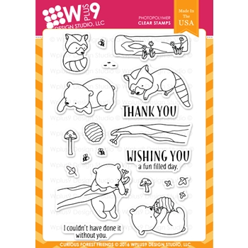 Wplus9 CURIOUS FOREST FRIENDS Clear Stamps CLWP9CUFOFR