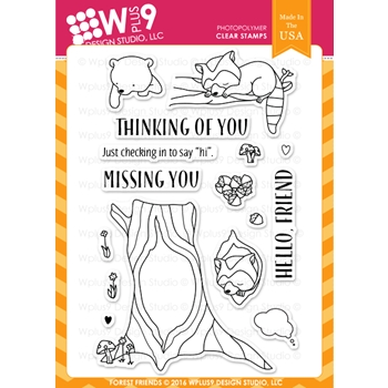 Wplus9 FOREST FRIENDS Clear Stamps CLWP9FOFR