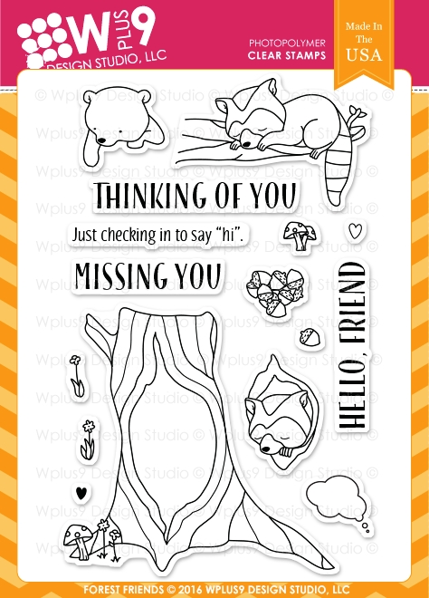 Wplus9 FOREST FRIENDS Clear Stamps CLWP9FOFR zoom image