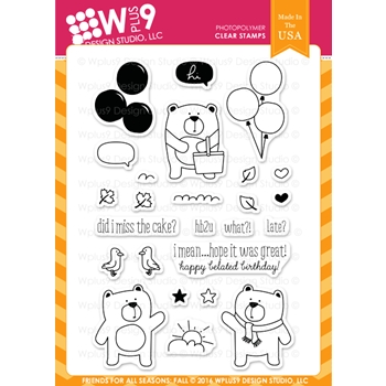 Wplus9 FRIENDS FOR ALL SEASONS FALL Clear Stamps CLWP9FFSF