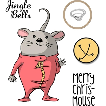 Art Impressions CHRIS-MOUSE Mini Shaker Clear Stamps and Die 4796