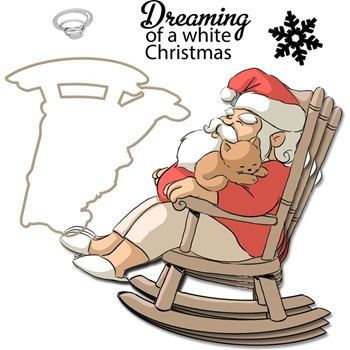 Art Impressions DREAMING Mini Shaker Clear Stamps and DIe 4792