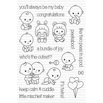 Clearly Besotted PEEKABOO Clear Stamp Set