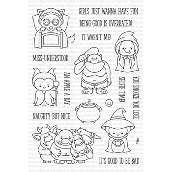 Clearly Besotted GOOD TO BE BAD Clear Stamp Set