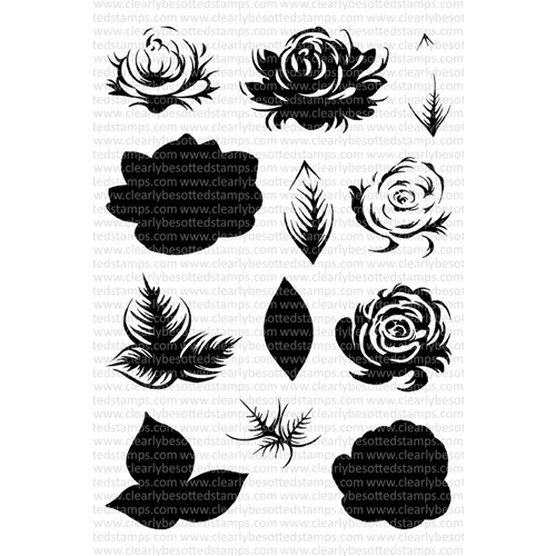 Clearly Besotted ENGLISH ROSE Clear Stamp Set* Preview Image