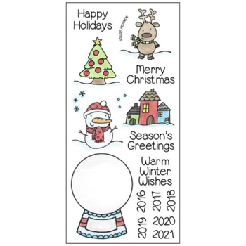 Inky Antics SNOW GLOBE Clear Stamp Set 11352LC