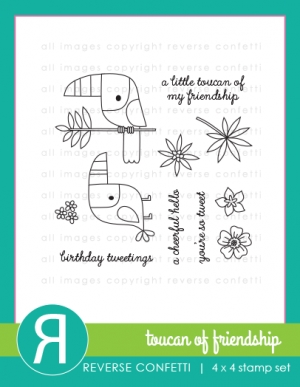 Reverse Confetti TOUCAN OF FRIENDSHIP Clear Stamp Set zoom image