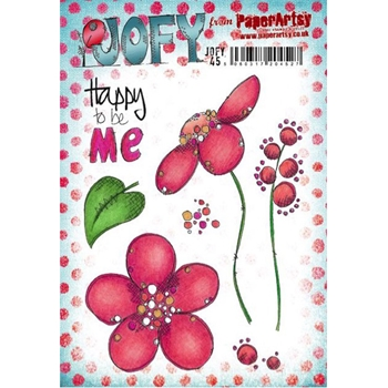 Paper Artsy JOFY45 Happy Rubber Cling Stamp JOFY45
