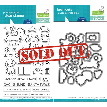 Lawn Fawn SET LF1289 HAPPY HOWLIDAYS Clear Stamps and Dies STAMPtember Exclusive