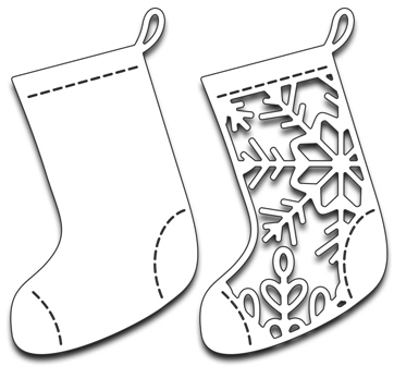 Penny Black CHRISTMAS STOCKINGS Thin Metal Creative Dies 51-252 Preview Image