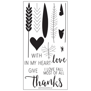 Concord & 9th GIVE THANKS Clear Stamp Set 10113C9