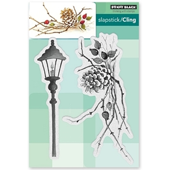 Penny Black Cling Stamp CONES AND BERRIES 40-495