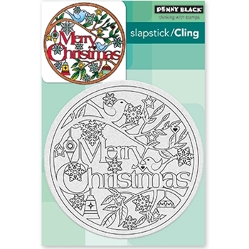 Penny Black Cling Stamp CHRISTMAS IN THE ROUND 40-487