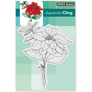 Penny Black Cling Stamp RED SPARKLE 40-481