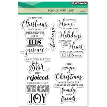 Penny Black Clear Stamps REJOICE WITH JOY 30-384