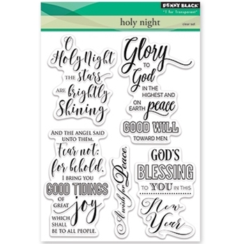 Penny Black Clear Stamps HOLY NIGHT 30-383