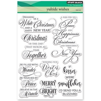 Penny Black Clear Stamps YULETIDE WISHES 30-382