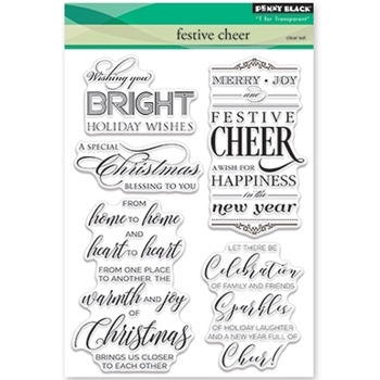 Penny Black Clear Stamps FESTIVE CHEER 30-381