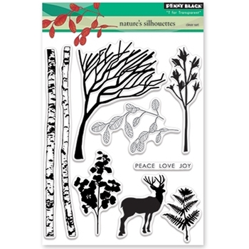 Penny Black Clear Stamps NATURE'S SILHOUETTES 30-380