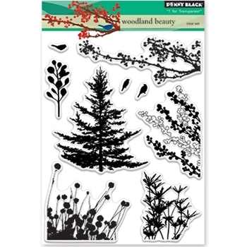 Penny Black Clear Stamps WOODLAND BEAUTY 30-379