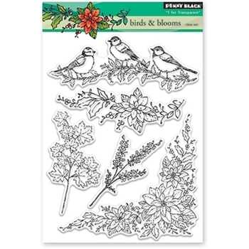 Penny Black Clear Stamps BIRDS AND BLOOMS 30-377