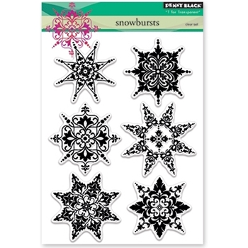 Penny Black Clear Stamps SNOWBURSTS 30-376