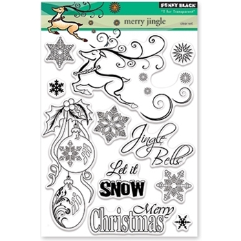 Penny Black Clear Stamps MERRY JINGLE 30-375