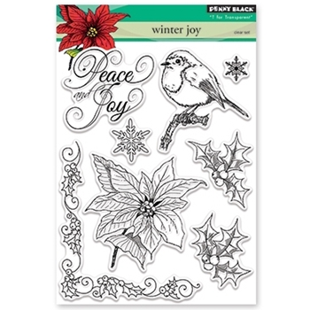 Penny Black Clear Stamps WINTER JOY 30-374