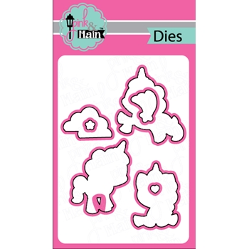 Pink and Main MAGICAL UNICORNS Coordinating Die Set 020425
