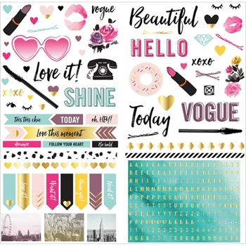 We R Memory Keepers URBAN CHIC Cardstock Stickers 662988