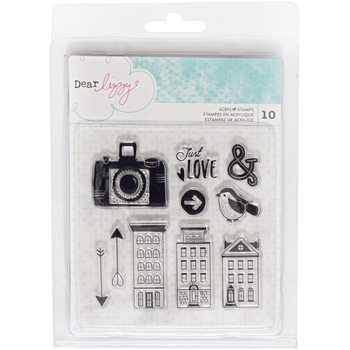 American Crafts Dear Lizzy ACRYLIC STAMPS Saturday 376280