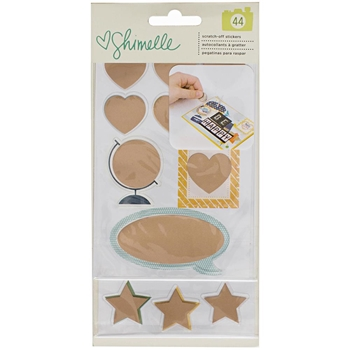 American Crafts Shimelle SCRATCH OFF STICKERS Copper Foil Go Now Go 376315