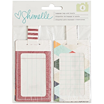 American Crafts Shimelle LUGGAGE TAGS Go Now Go 376176