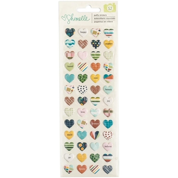 American Crafts Shimelle PUFFY STICKERS Go Now Go 376177